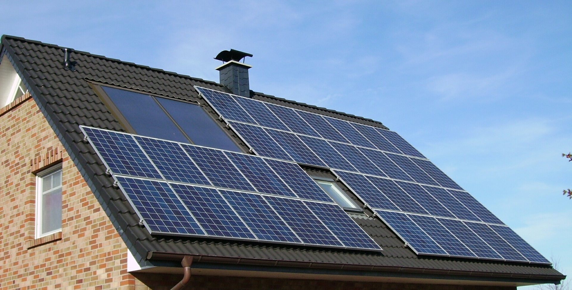 Solar Panel Array Roof Home